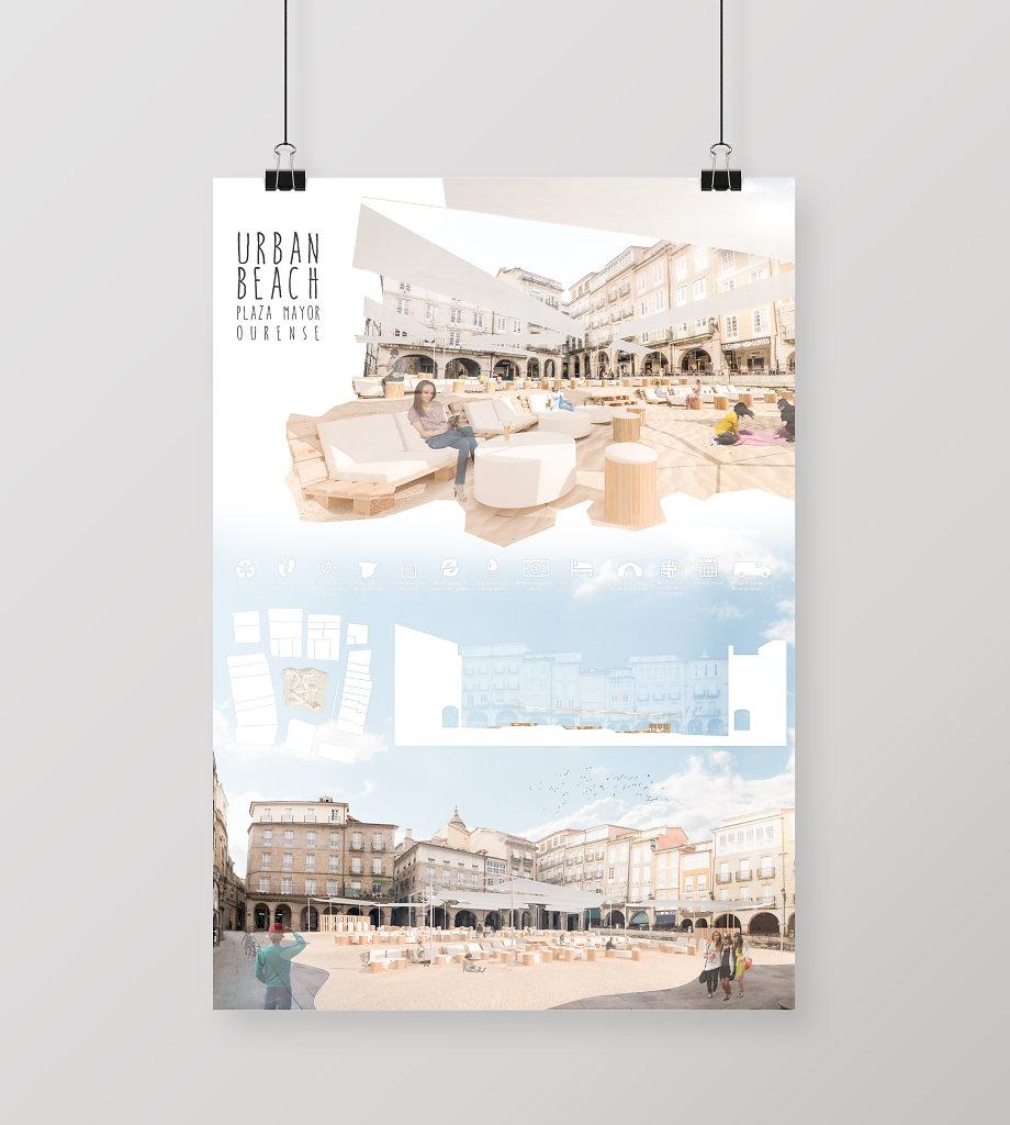 Proyecto de Idea de Playa Urbana en Casco Histórico de Ourense